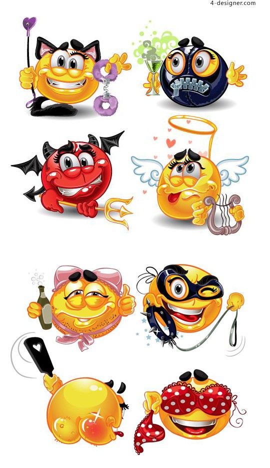 Funny cartoon picture vector material