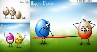 Funny egg vector material