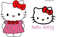 Hand painted HelloKitty vector material