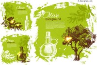 Olive theme illustration vector material