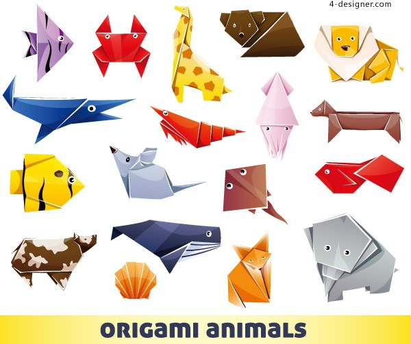 Origami toy vector material