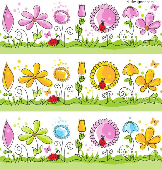 Painted Flower Child vector material