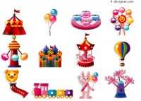 Playground entertainment vector material