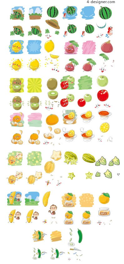 Q edition collection of fruit expression vector material