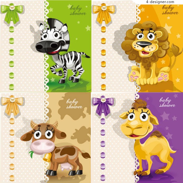 Super Meng Animal Cards vector material