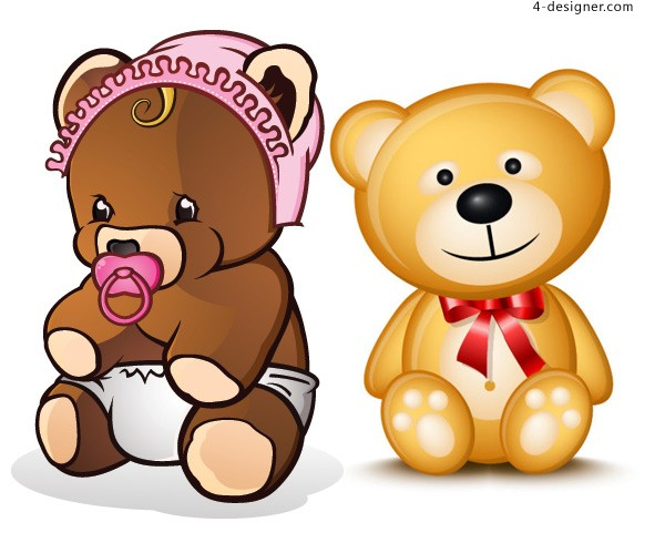 Teddy bear vector material