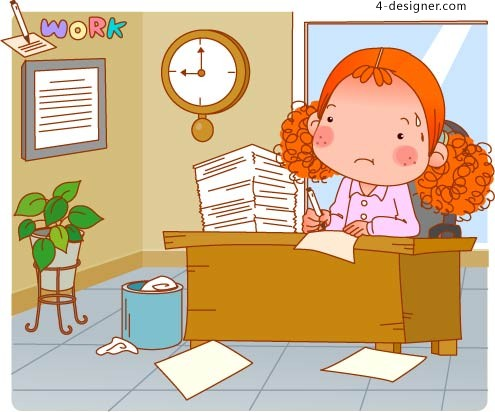 The bulk of girls to go to work vector material