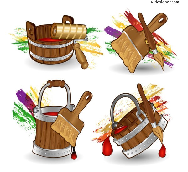 Vector cartoon Bucket vector material