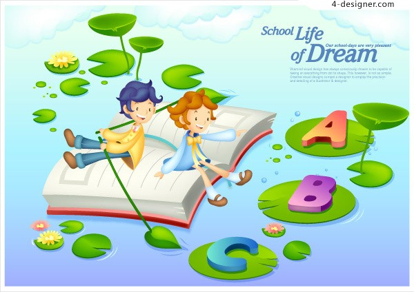 Vector illustrator of children vector material