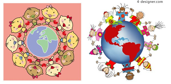 Around the earth vector material