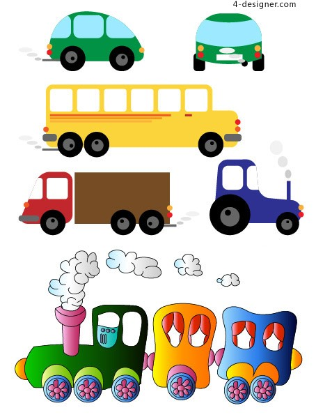 Children s toy car vector material