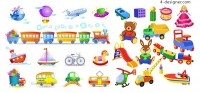 Children s toys vector material