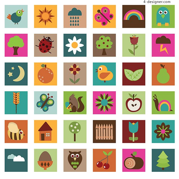 Cute graphics vector material