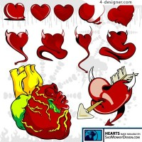 Devil s heart vector material