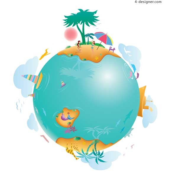 Leisure Life on Earth vector material