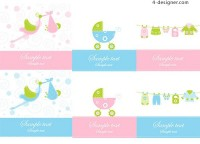 Lovely Baby vector material