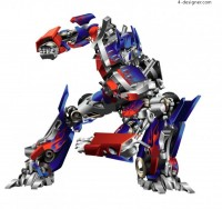 Transformers Optimus Prime vector material