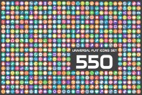550 beautifully flat vector icon