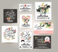 8 Elegant Flower Cards