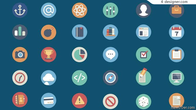 90 circular icon AE project documents