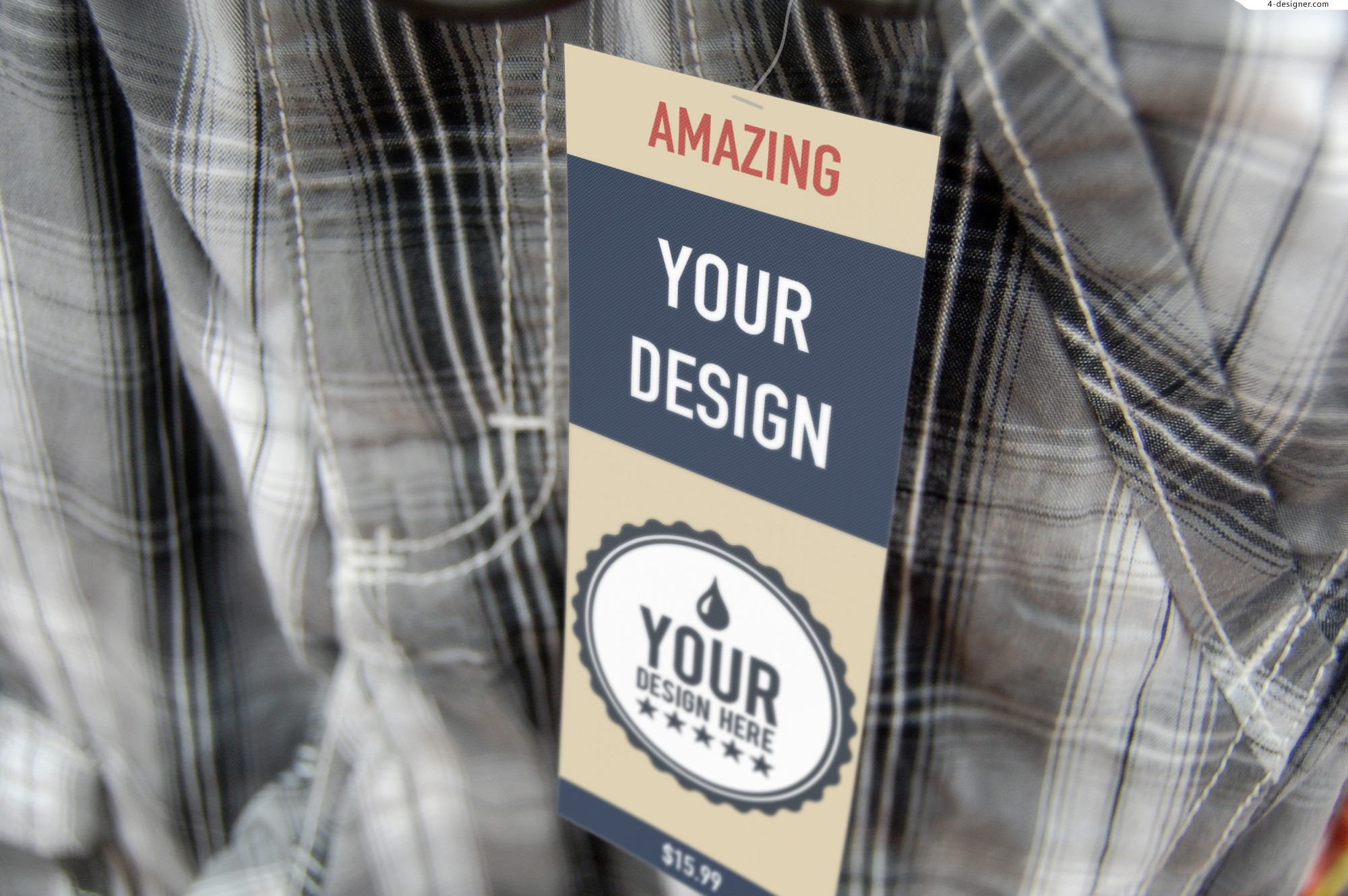 Clothing tag LOGO intelligent application PSD template