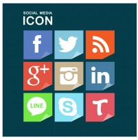 Common foreign social media icon