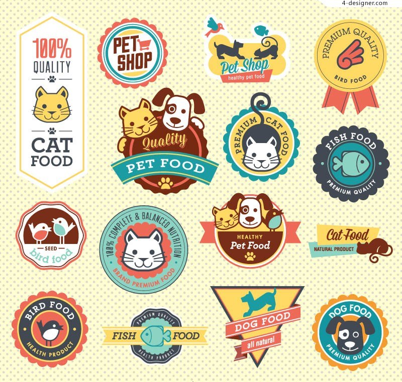 Cute pet food labels