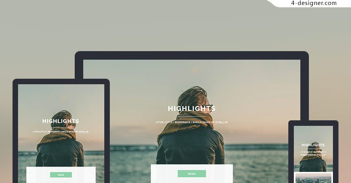 Foreign lightweight responsive H5 Page Share highlights
