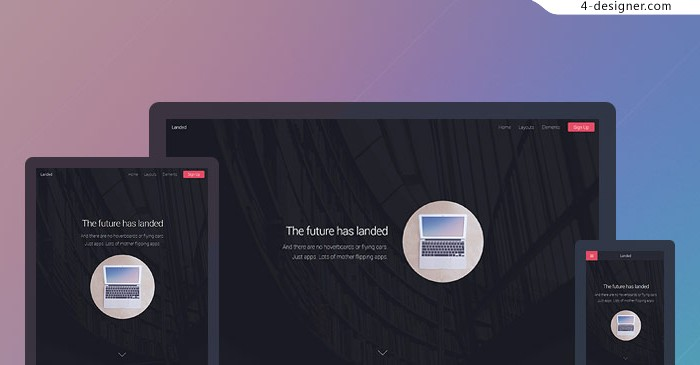 Foreign lightweight responsive H5 Page Share landed