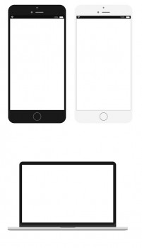 Iphone mobile computer psd vector template