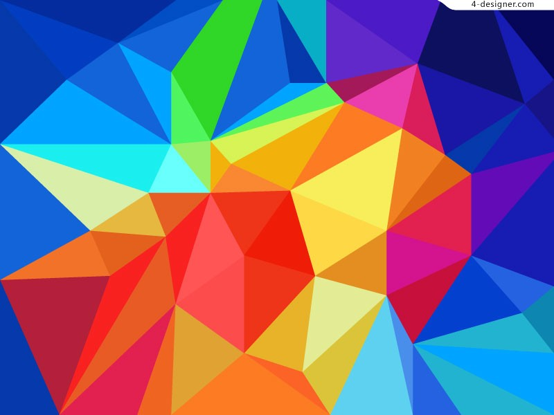 Multicolored geometric background 2 vector
