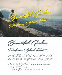 Over a range of English handwriting font