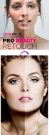 PS action beauty emollients Pro Beauty Retouch PHOTOSHOP ACTION