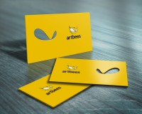 Showcase the business card psd