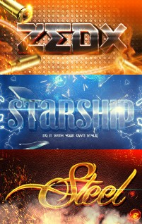 Text font design material deformation effects source file PSD light effects