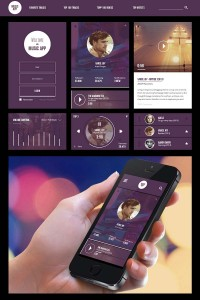 UI design Mobile Music program Music App UI Kit