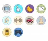 Vector humorous icon pack icon collection