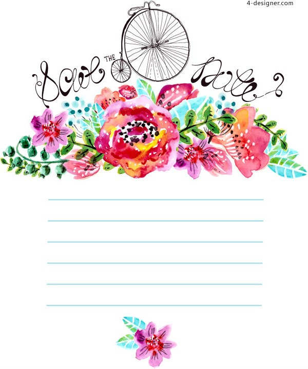 Watercolor Floral decorative background