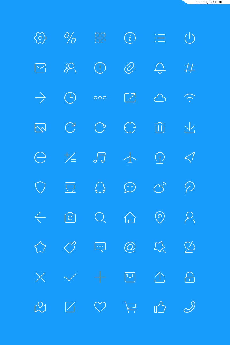 2px lines Icons Vector