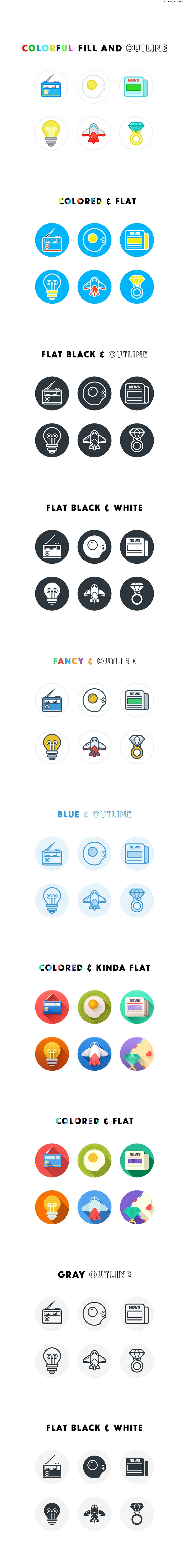 60 Icons vector for free