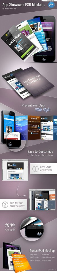 APP interface display template