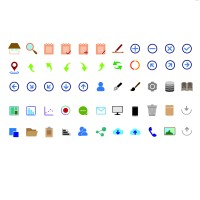 Color vector icons
