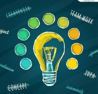Creative colored bulb illustration
