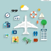 Exquisite design vacation travel icon vector material