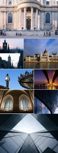 HD European and American architectural landscape background