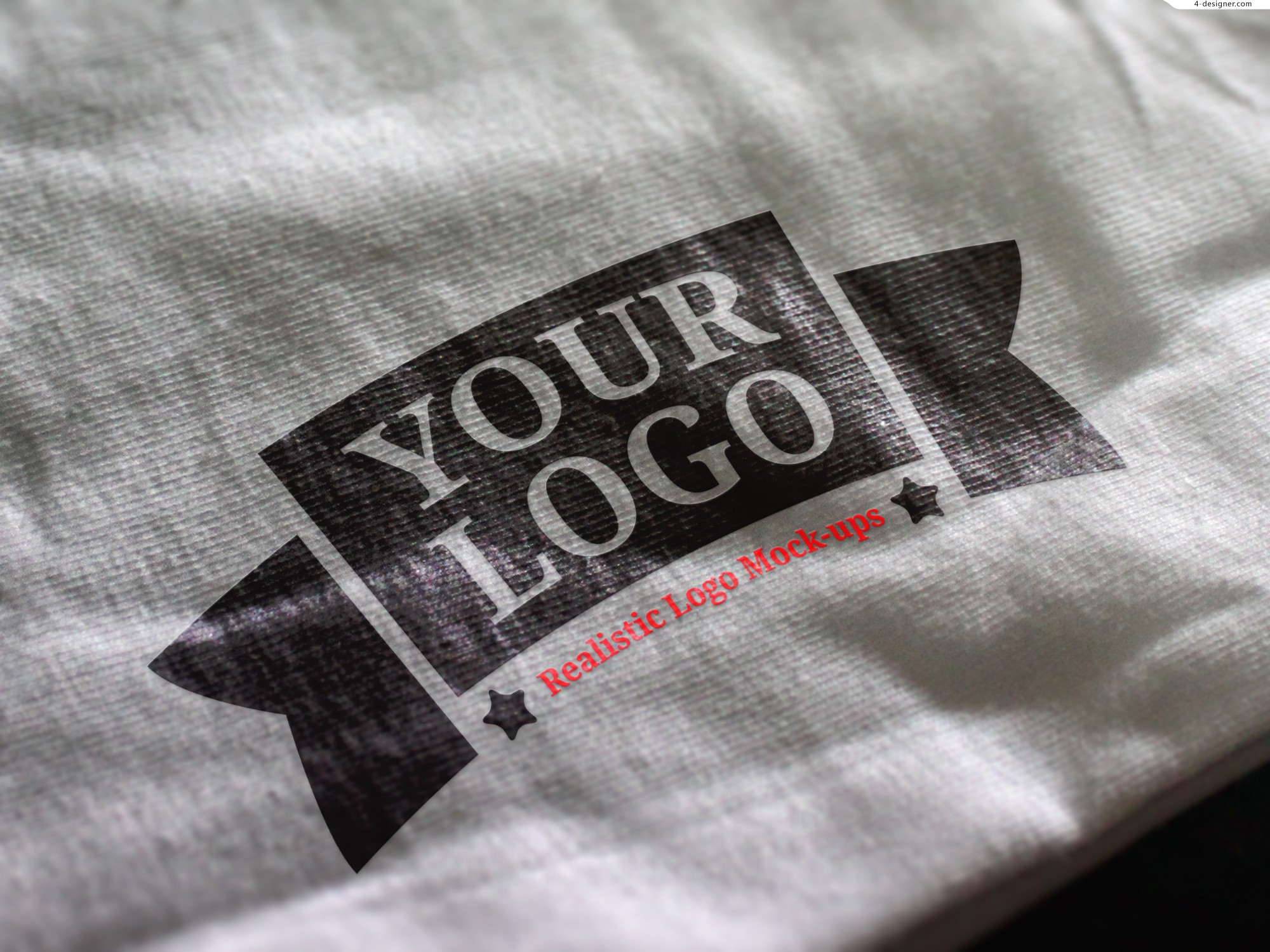 LOGO cotton material effect shows 3