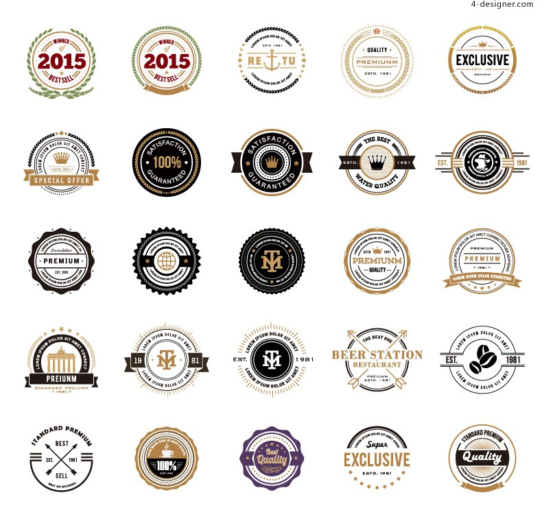 Label icon vector material