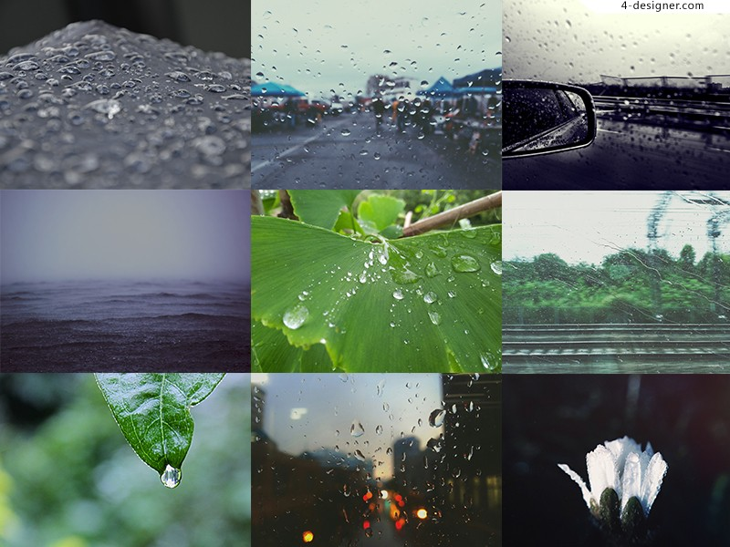 Raindrop Rain glazing material picture 13p HD