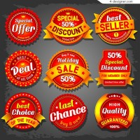 Vector promotional labels