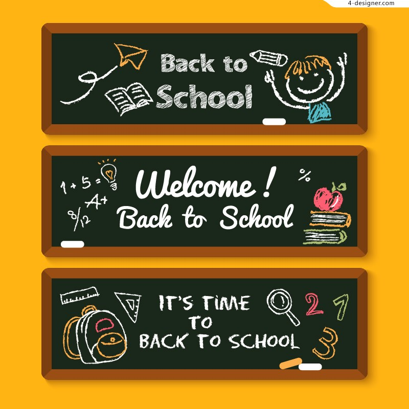 Welcome back to school hand painted banner